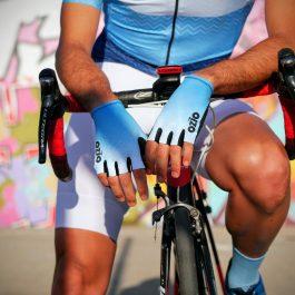 Mitaines de vélo dégradé bleu OZIO