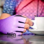 Mitaines de vélo violettes OZIO