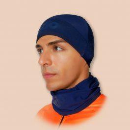 Sous-casque et tour de cou bleu navy OZIO