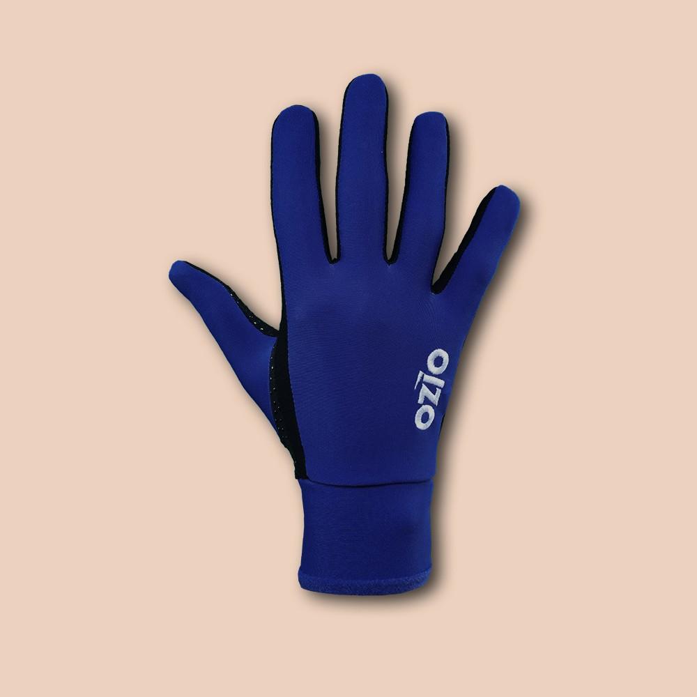 Gants de vélo mi-saison bleu marine OZIO