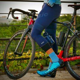 genouillères de vélo bleu navy OZIO