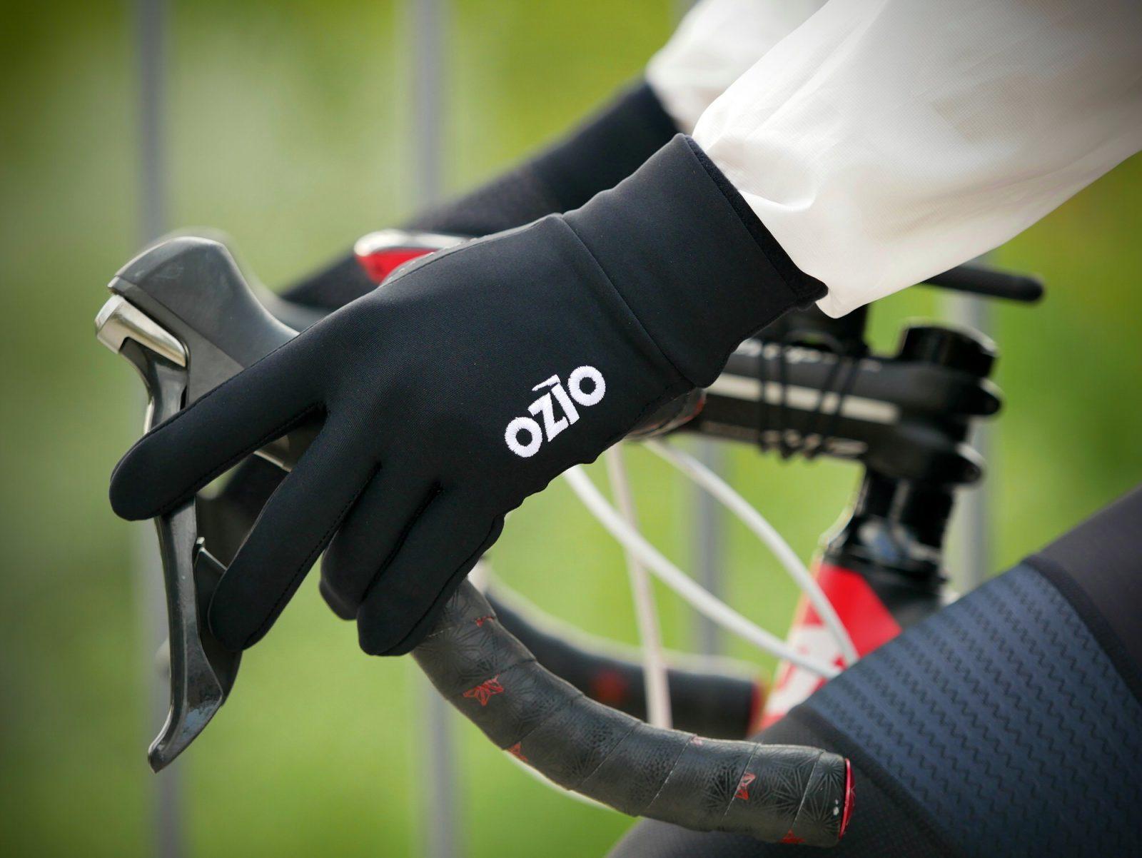 Gants vélo mi-saison noir OZIO