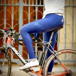 Collant de vélo long hiver bleu marine OZIO