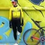 Maillot de vélo hiver jaune OZIO