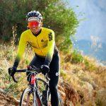 maillot manches longues de vélo printemps-automne jaune OZIO