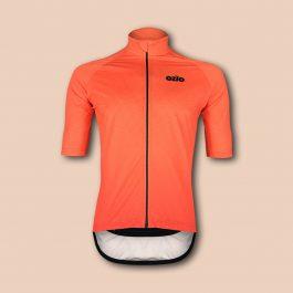Maillot de vélo imperméable et coupe-vent orange OZIO
