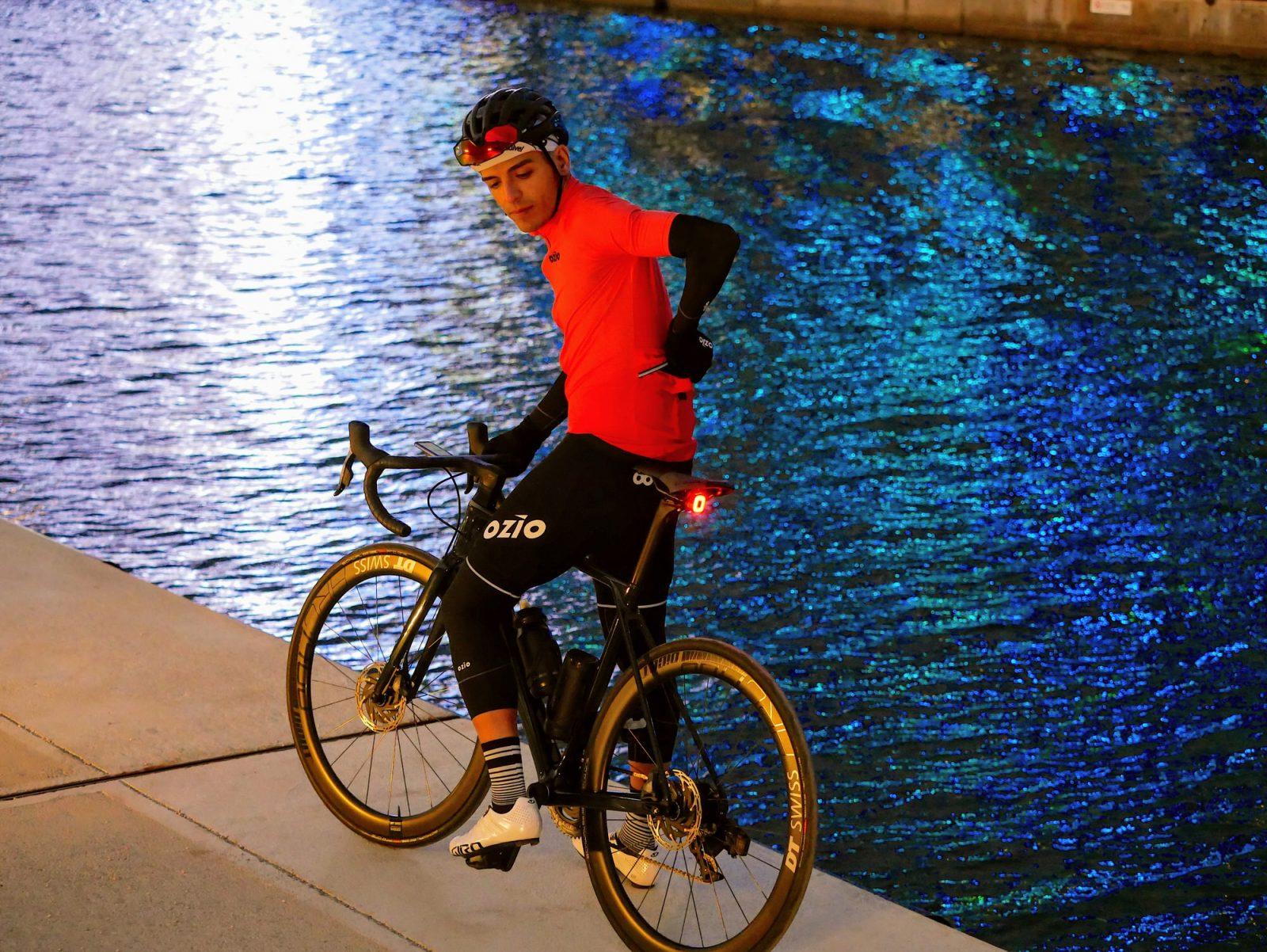Veste coupe-vent vélo mi-saison orange