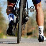 Chaussettes vélo été blanche