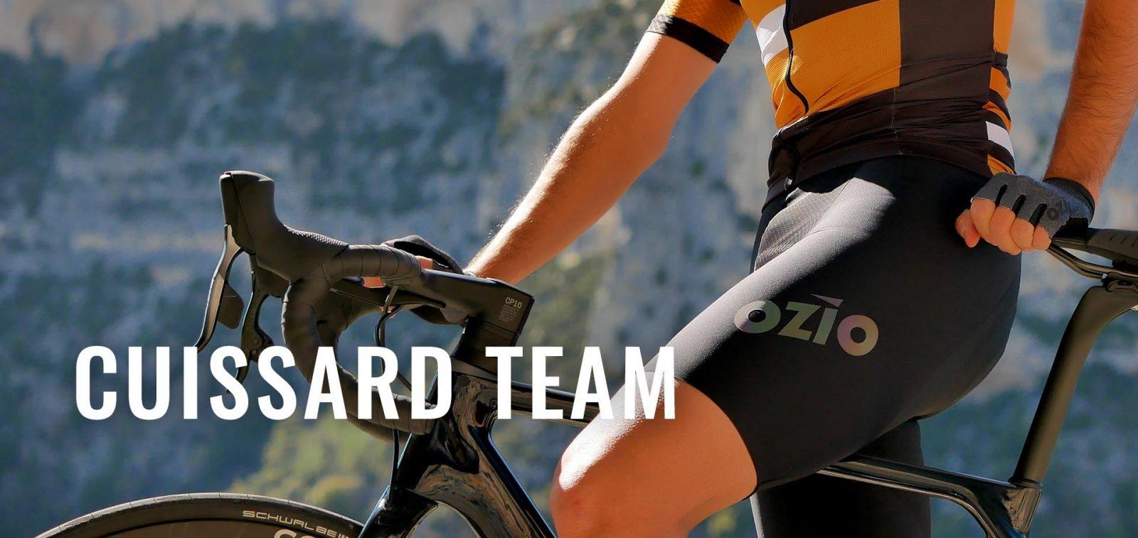 TEAM black cycling shorts