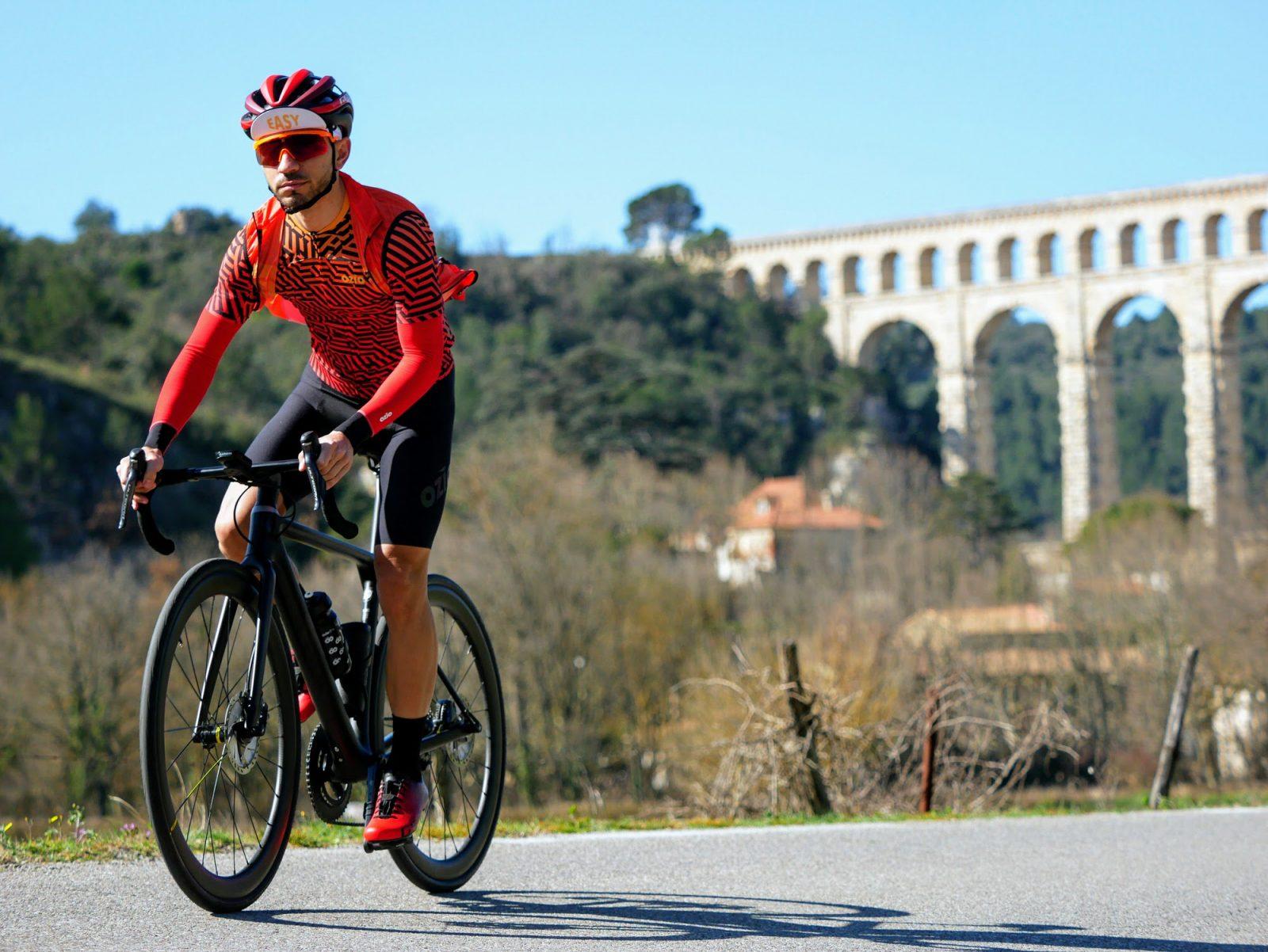 Maillot vélo été manches courtes ZEBRA orange