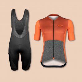Ensemble maillot de vélo et cuissard avec poches pour Gravel OZIO