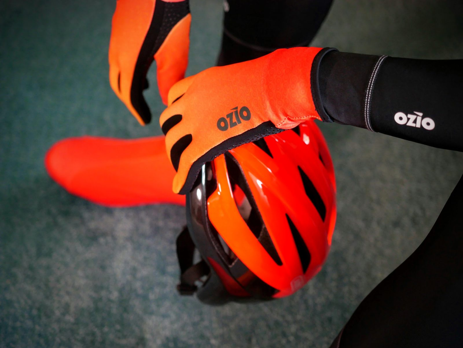 Gants de vélo mi-saison orange OZIO