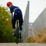 Collant vélo hiver déperlant bleu navy OZIO