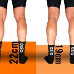 Chaussettes de vélo été 22cm 19cm OZIO