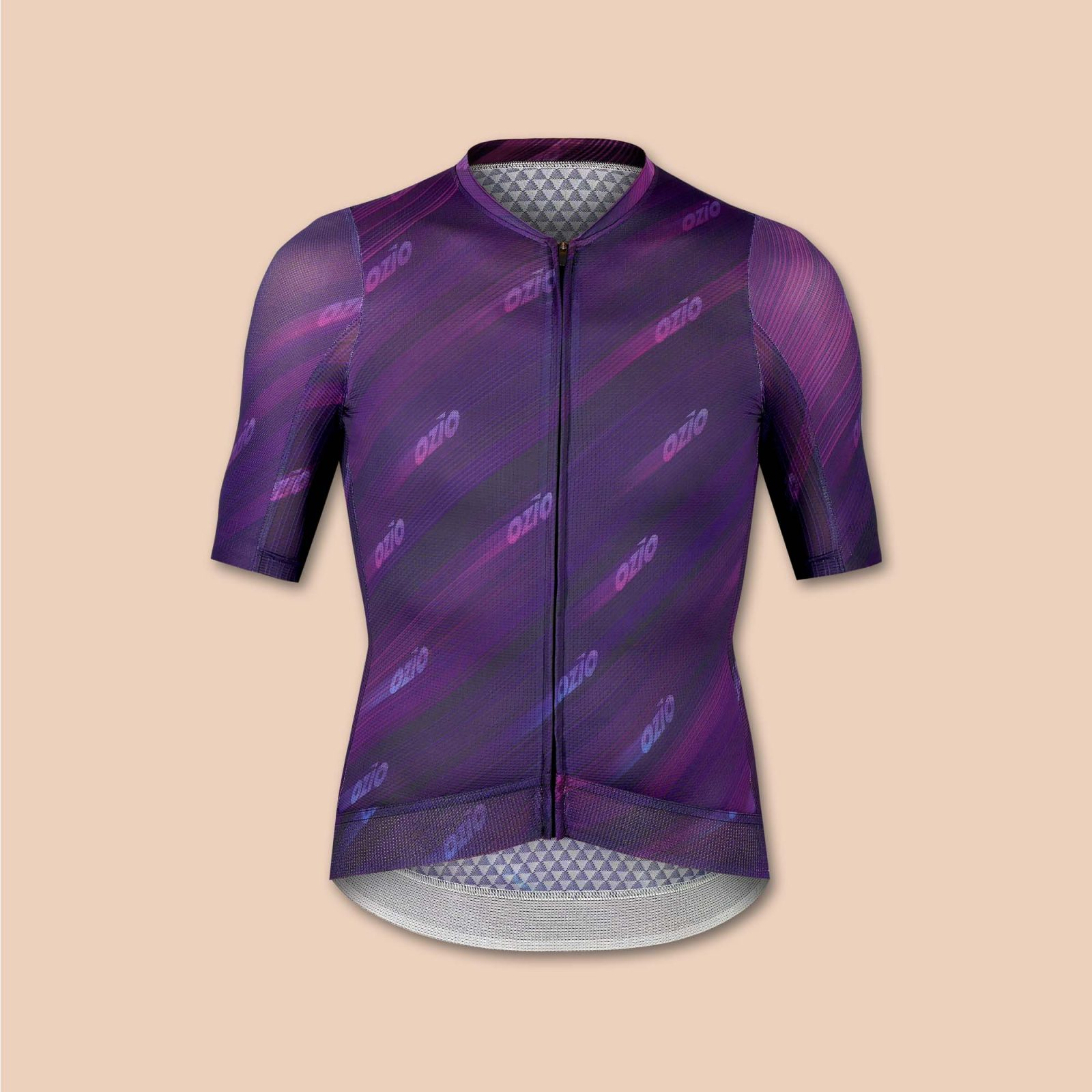 Maillot homme vélo violet uni ozio