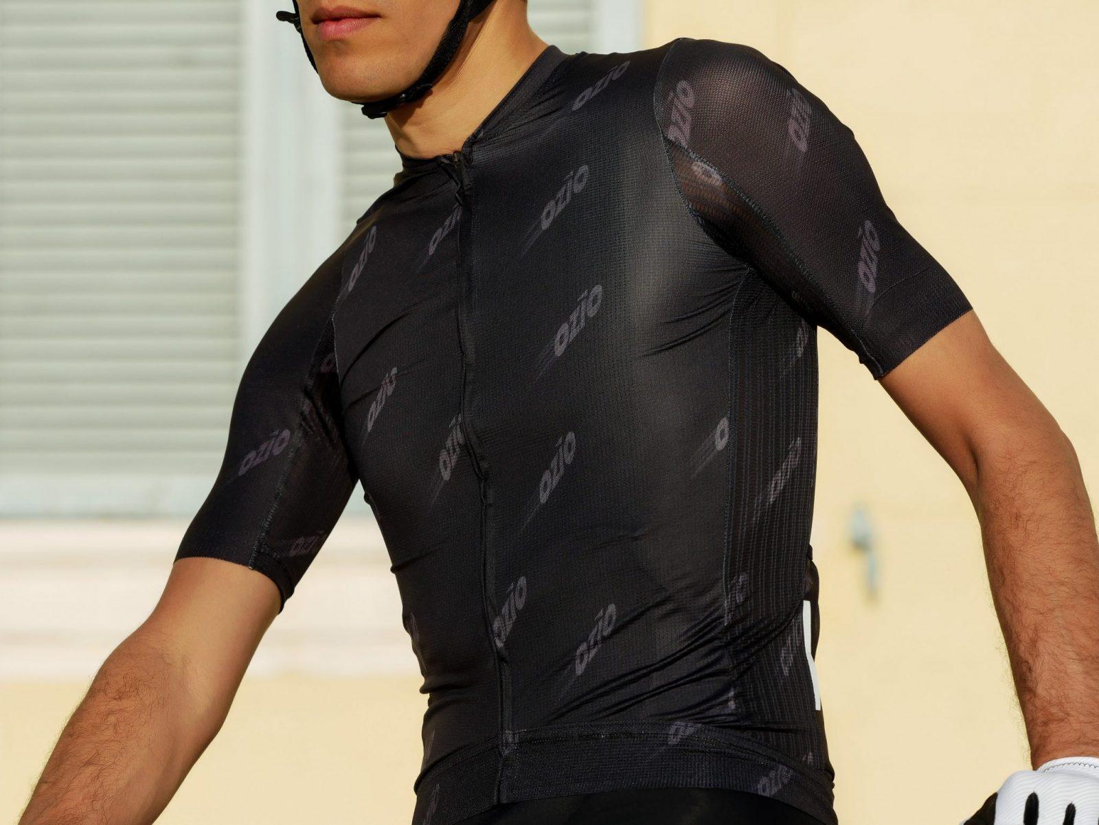 Maillot de vélo noir manches courtes été