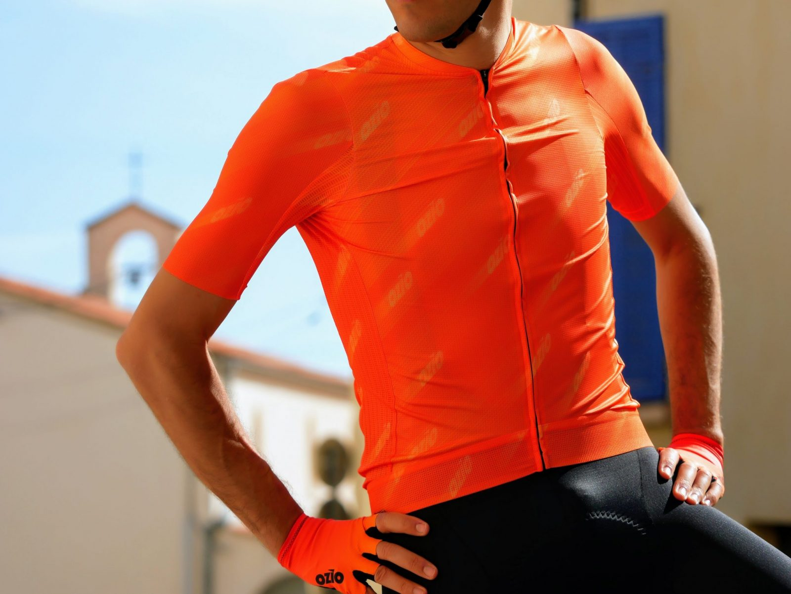 Maillot vélo léger orange ozio