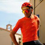Cycliste maillot vélo léger orange ozio