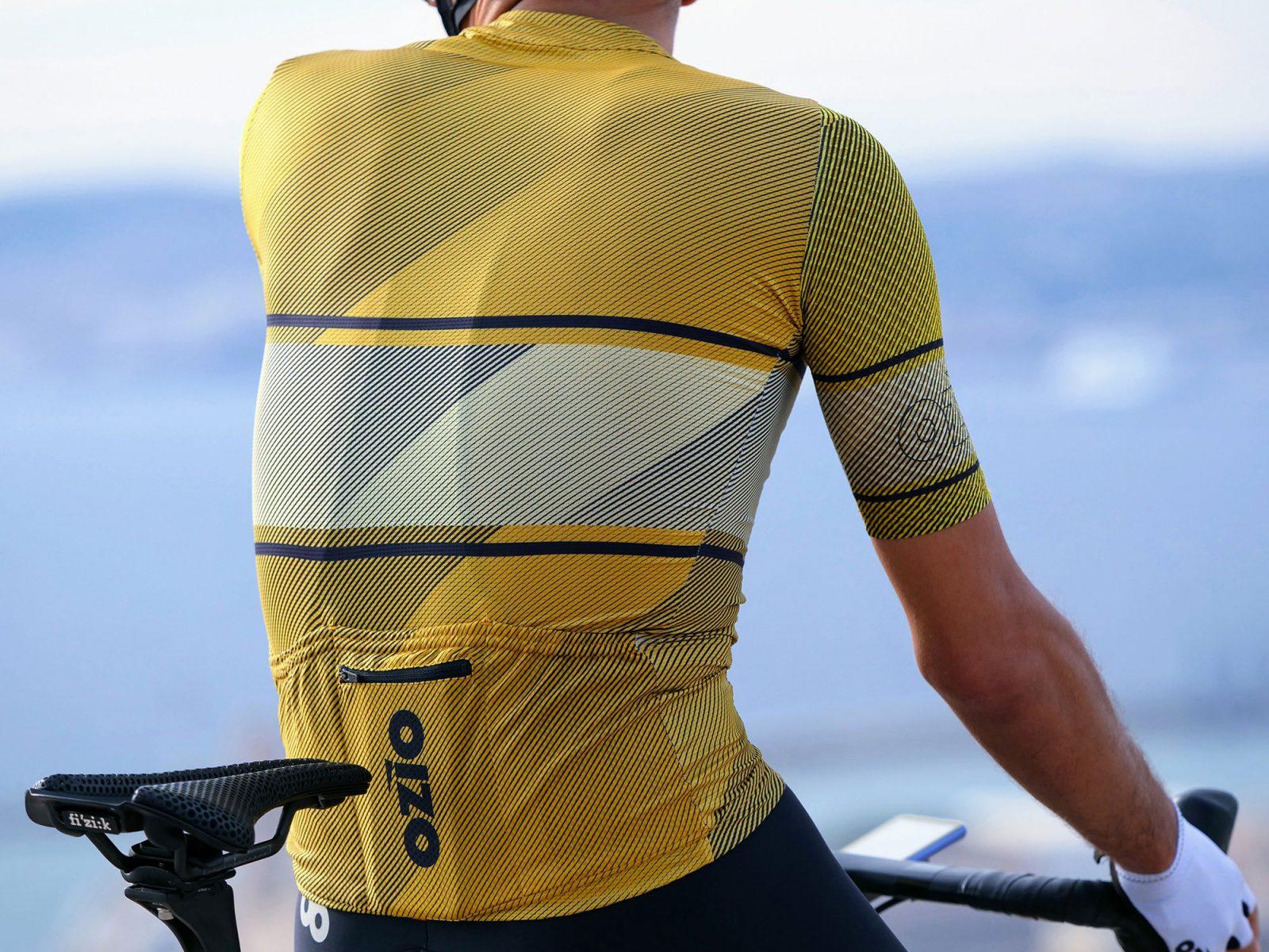 maillot cycliste leader jaune dos