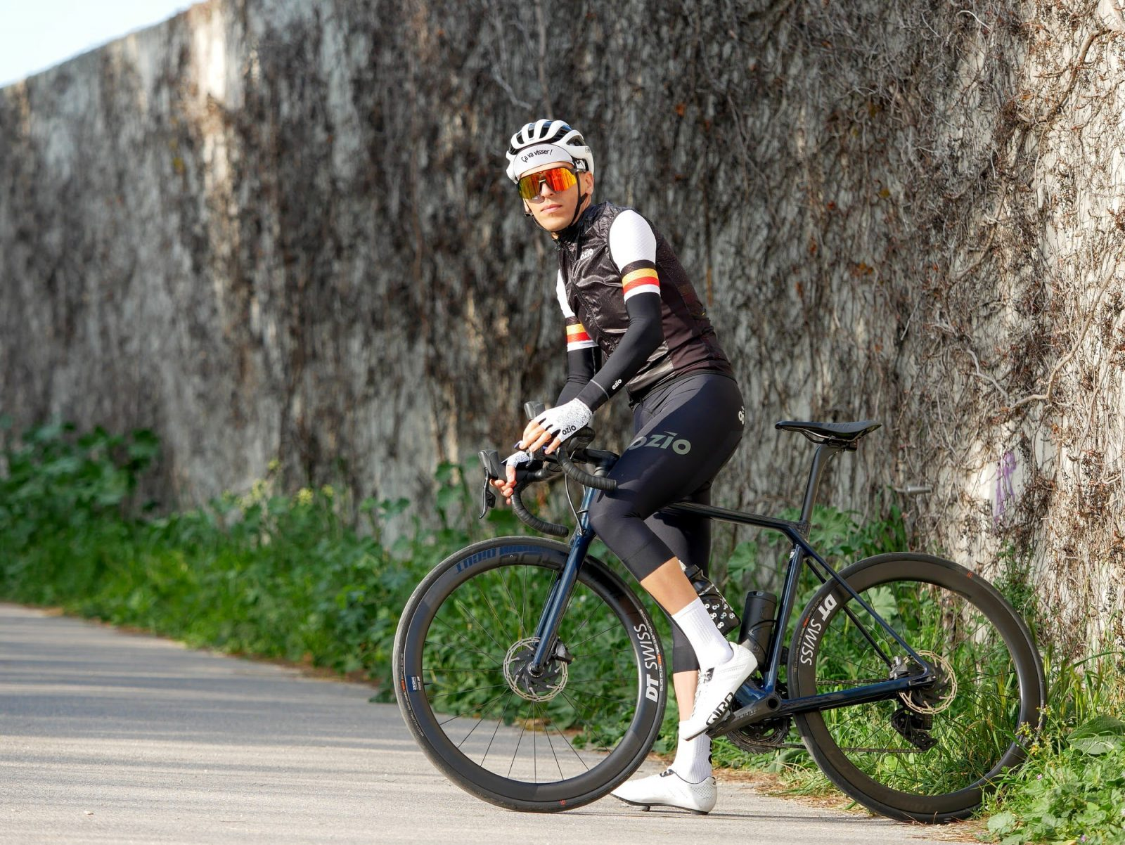 Corsaire de vélo mi-saison noir OZIO