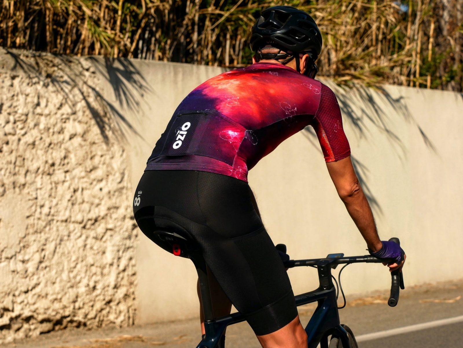 Maillot cycliste été CONSTELLATION vue de dos