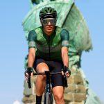 Maillot de vélo été vert homme qui pédale OZIO