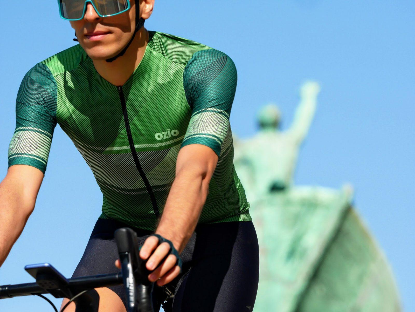 Maillot de vélo été homme vert OZIO