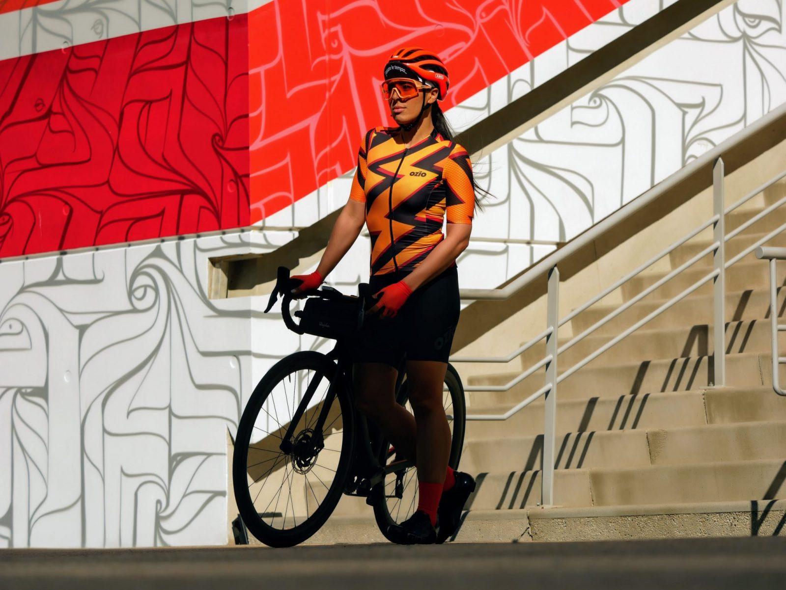 Femme maillot de vélo manches courtes OZIO