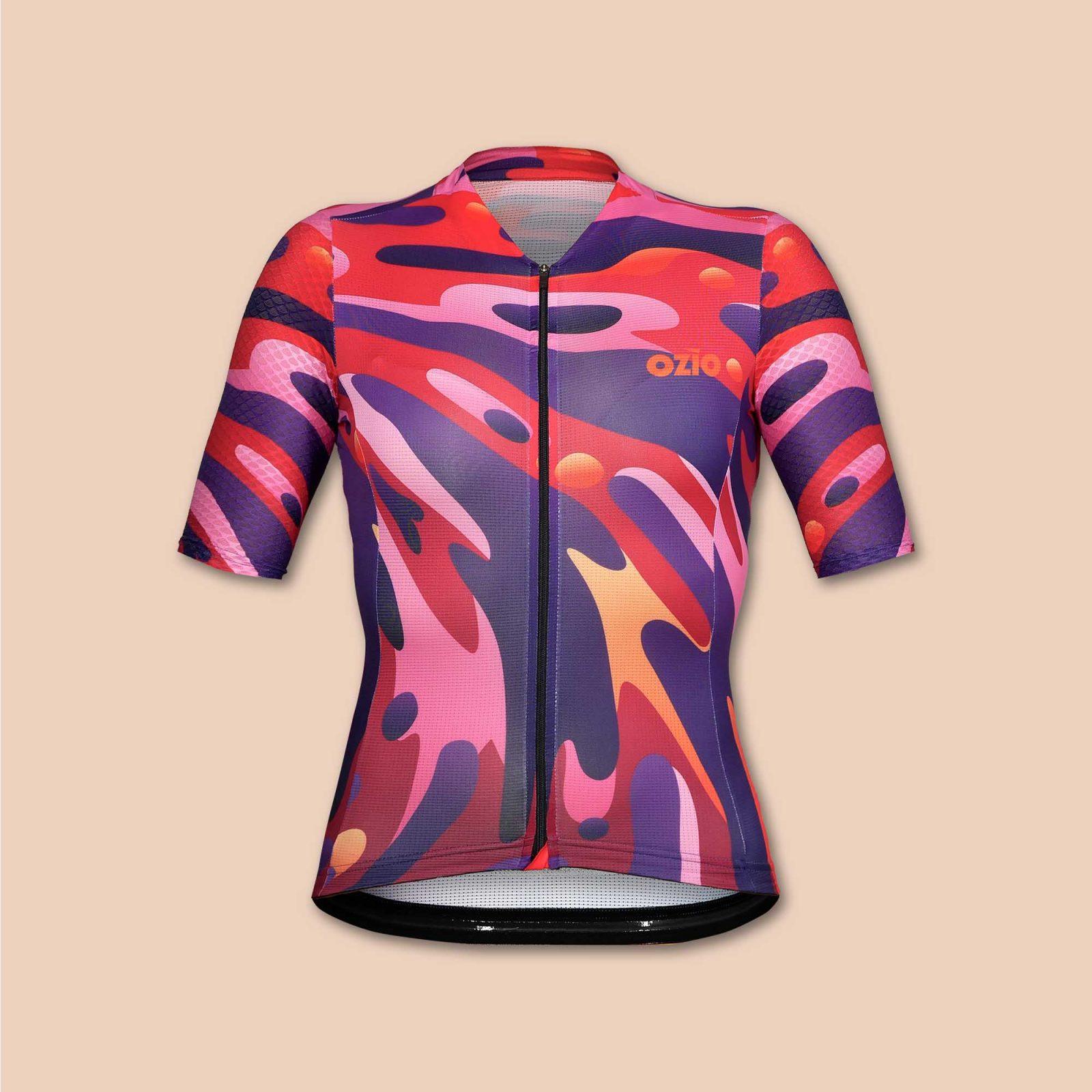 Maillot cycliste été femme coloré OZIO
