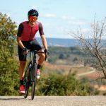 Cycliste portant maillot de vélo manches courtes été motif japonais OZIO