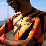 Maillot de vélo manches courtes été orange OZIO