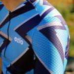 zoom maillot de vélo manches courtes bleu été OZIO