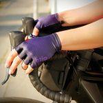 Mitaines de vélo violet OZIO