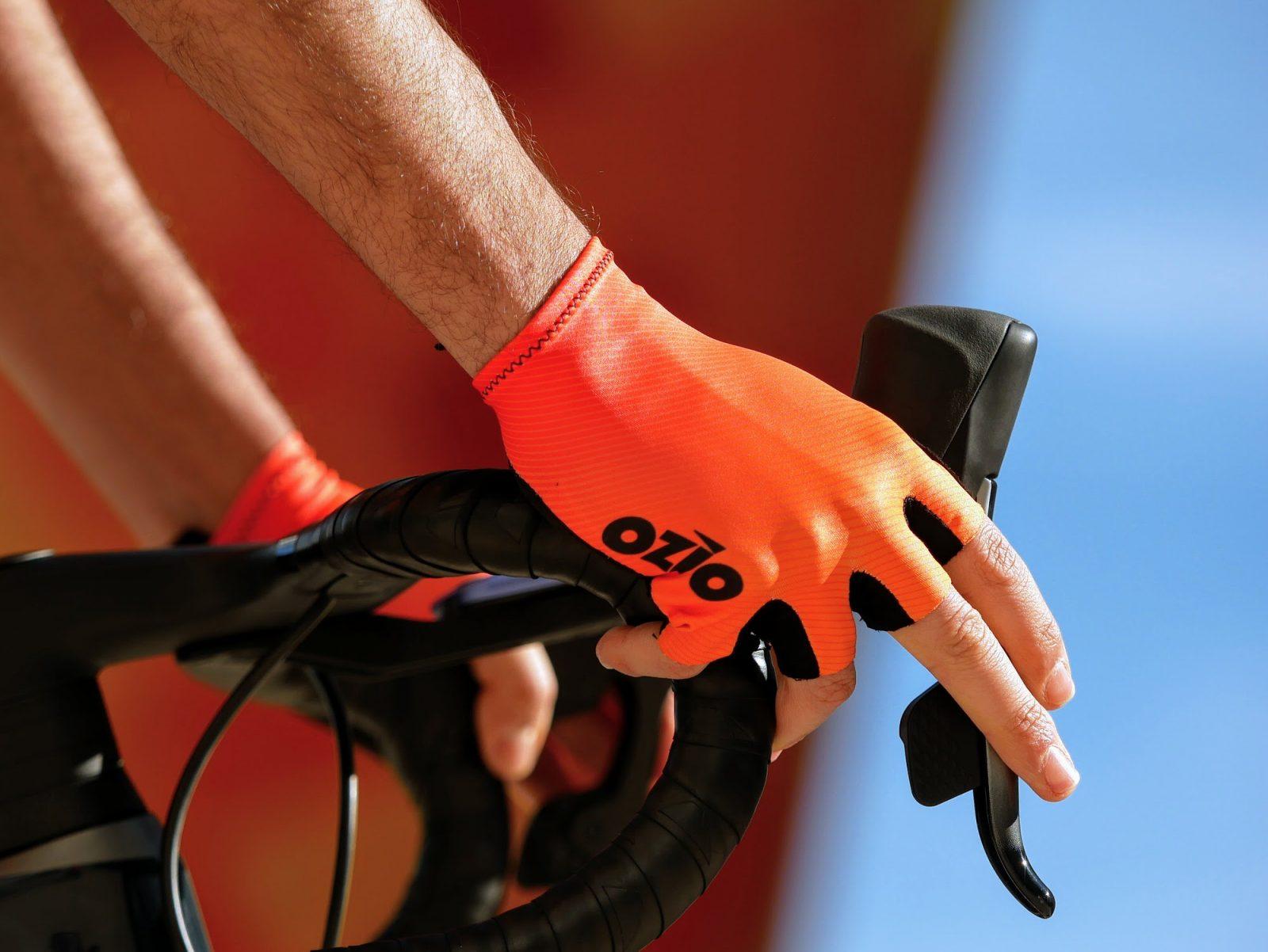 Mitaines de vélo oranges OZIO