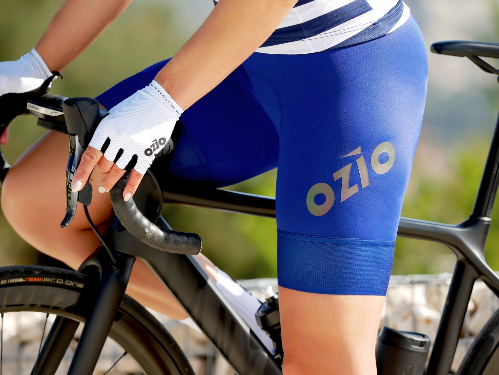 Cuissard de vélo femme bleu sans bretelles OZIO