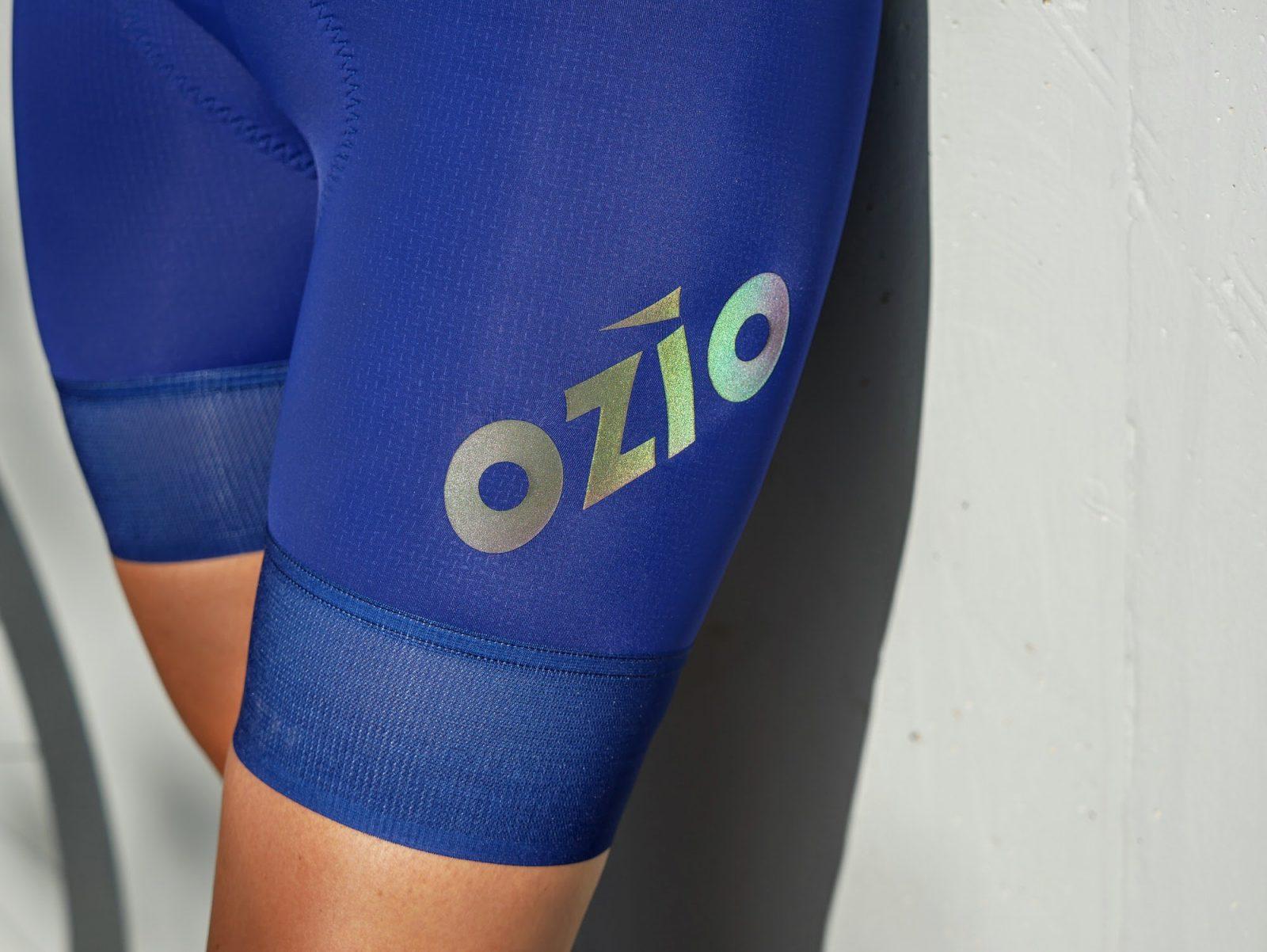 Cuissard de vélo femme bleu marine sans bretelles OZIO