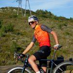 Gilet coupe-vent orange cycliste OZIO