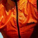 Gilet coupe-vent cycliste orange OZIO