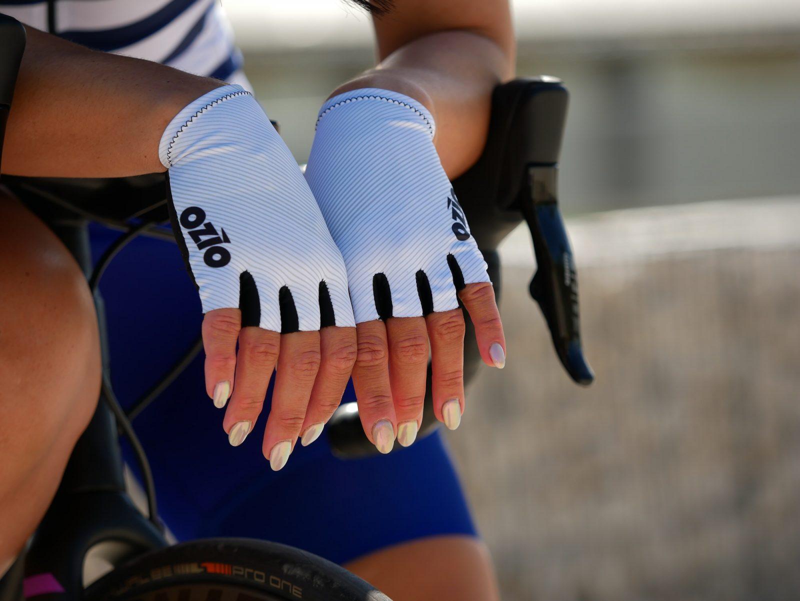 Mitaines de vélo blanches OZIO