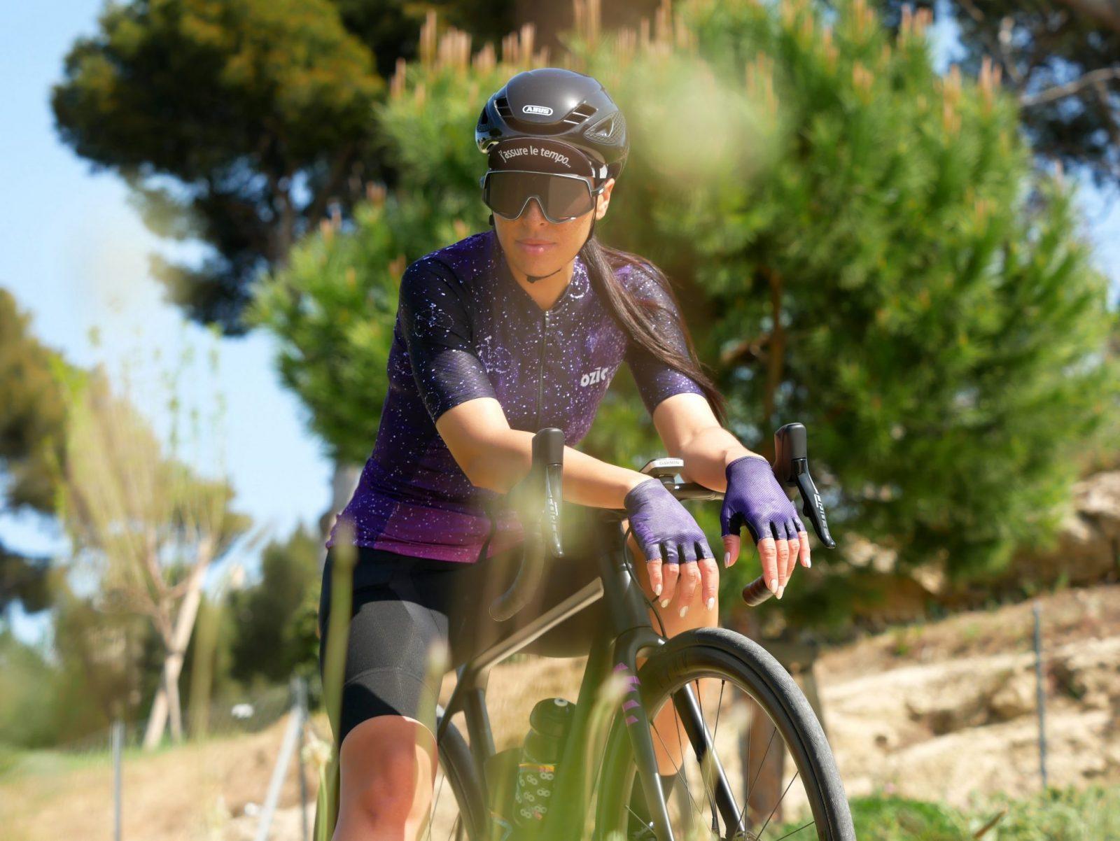 Maillot cycliste été femme mitaines