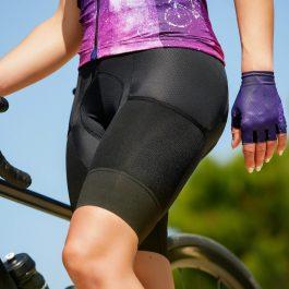 cuissard vélo femme noir maillot constellation mitaines