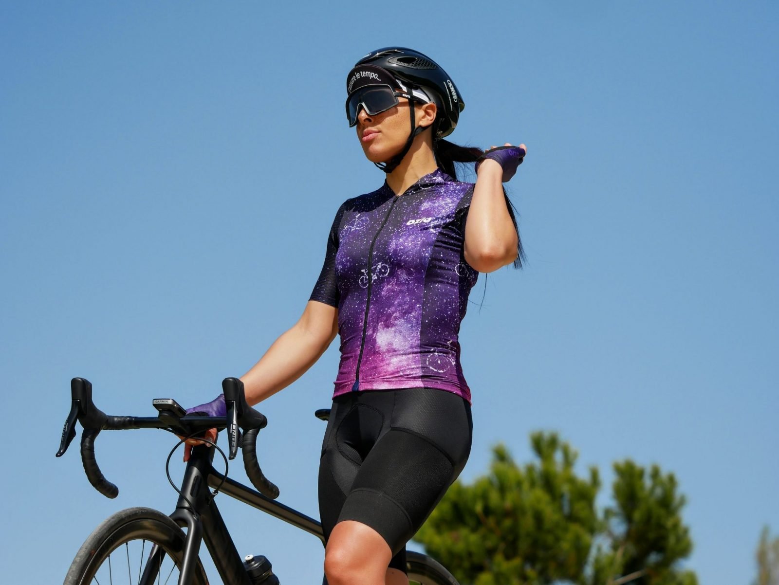 Maillot cycliste été original femme cuissard sans bretelles
