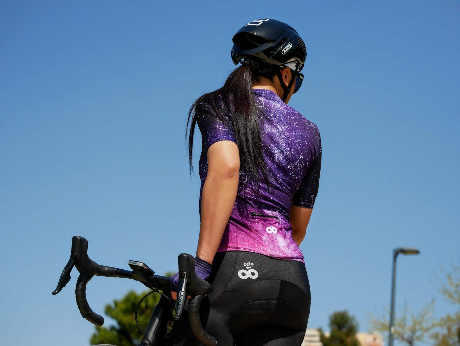 Arrière maillot cycliste femme été original et confortable
