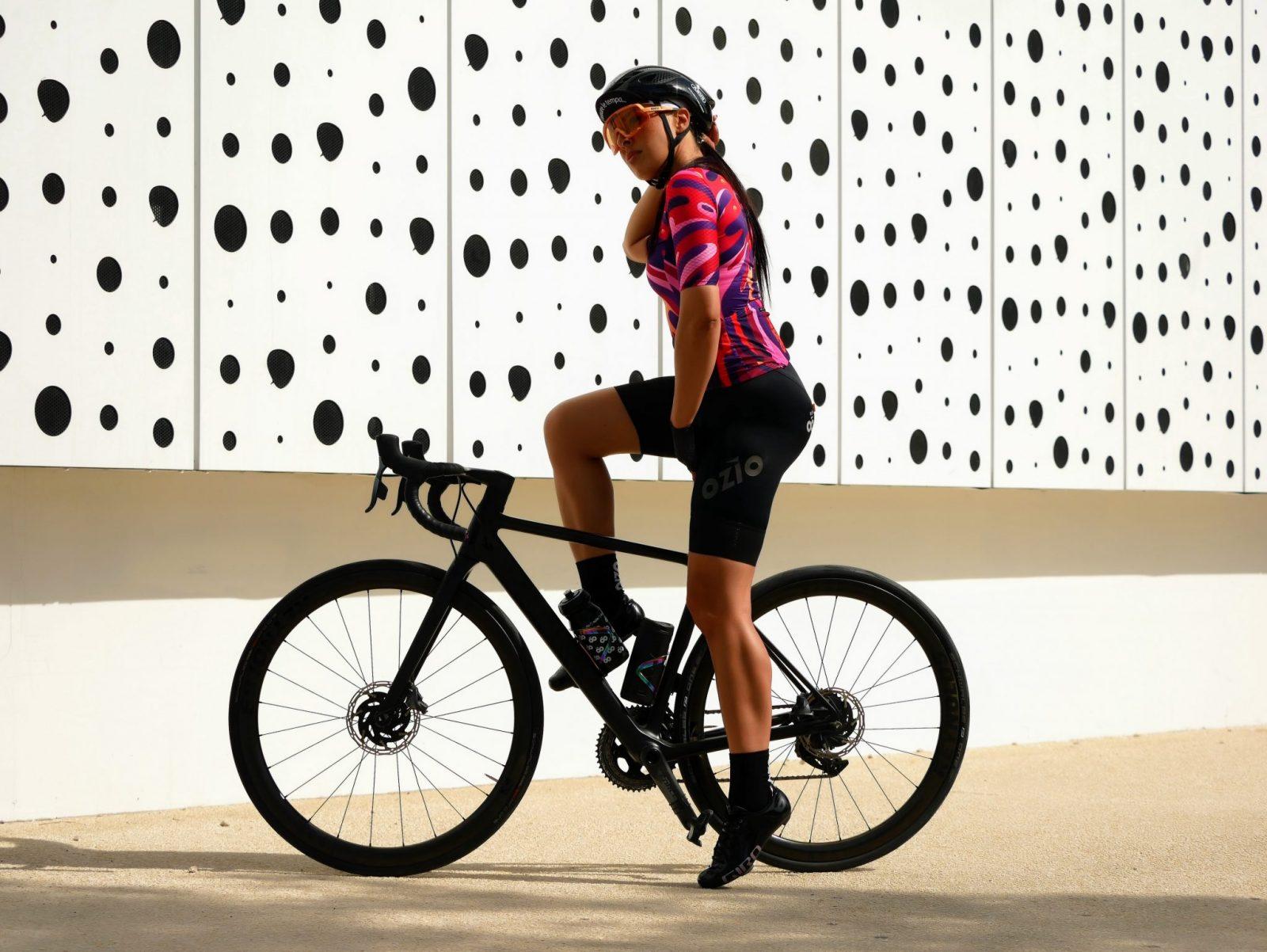Cuissard de vélo femme avec bretelles OZIO