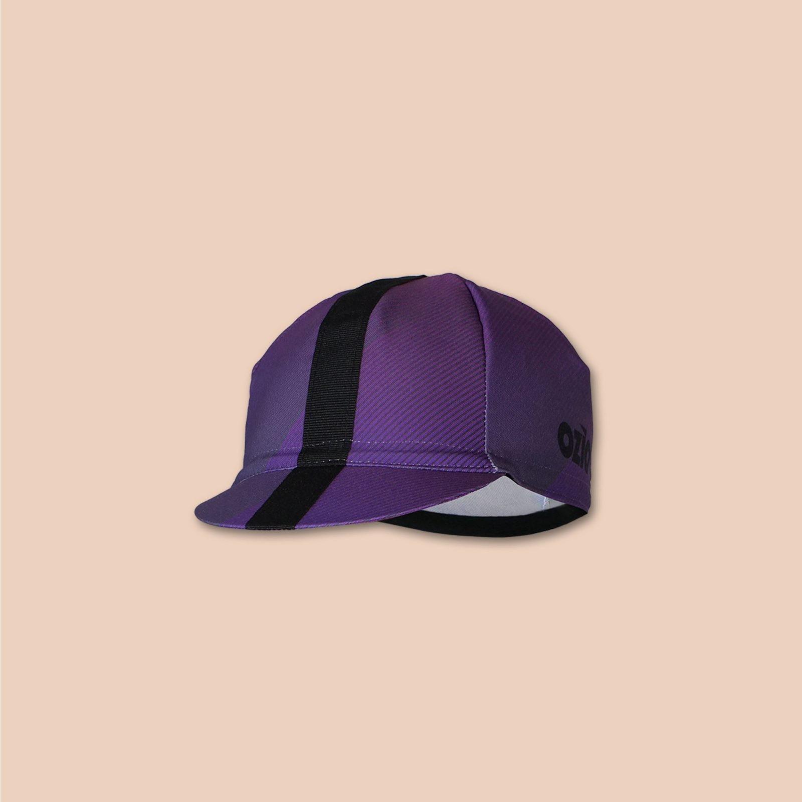 Casquette vélo violette