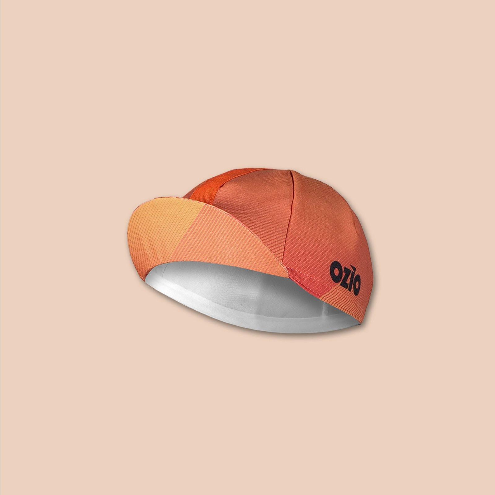 Casquette vélo orange vue 3/4