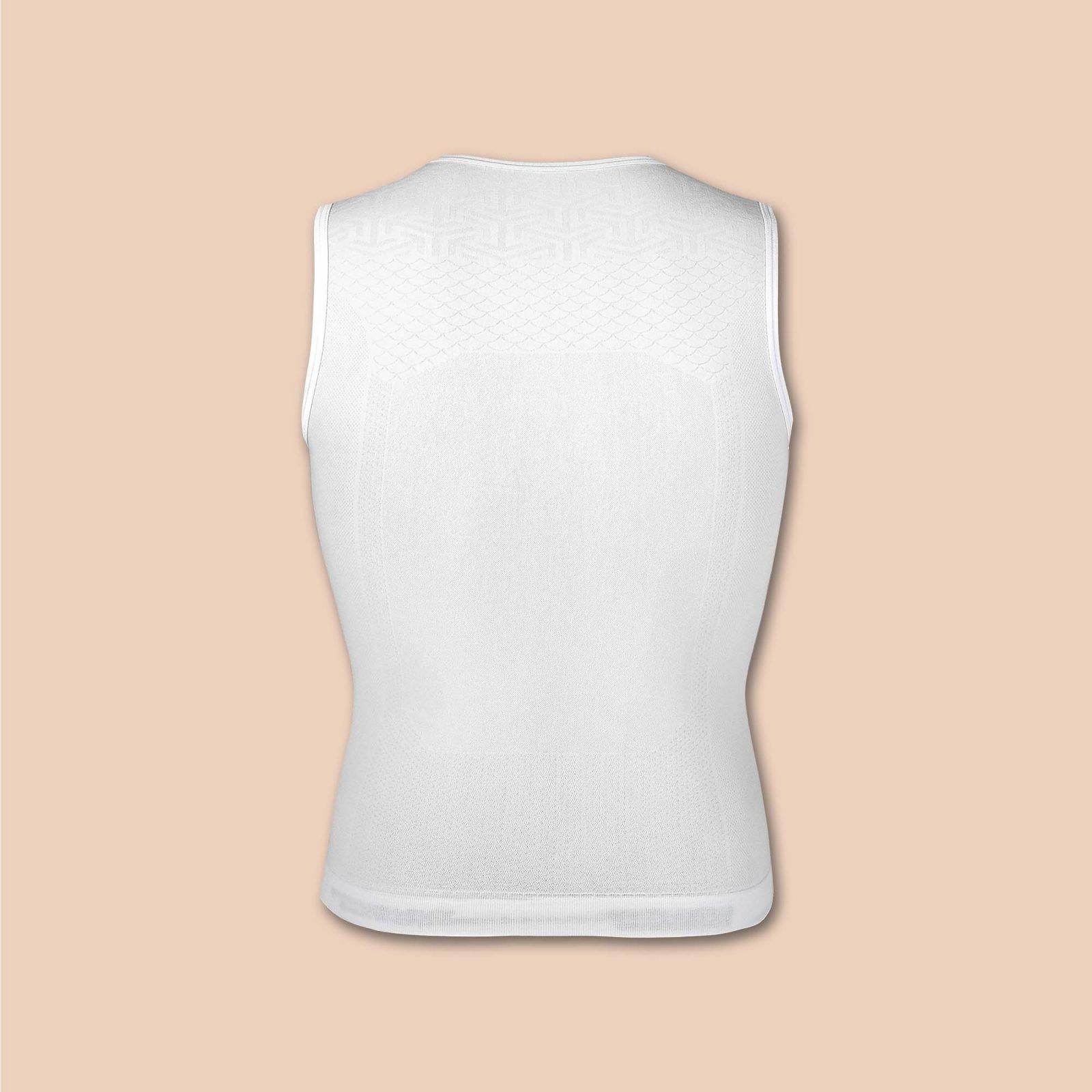 base layer sous-maillot de vélo blanc dos