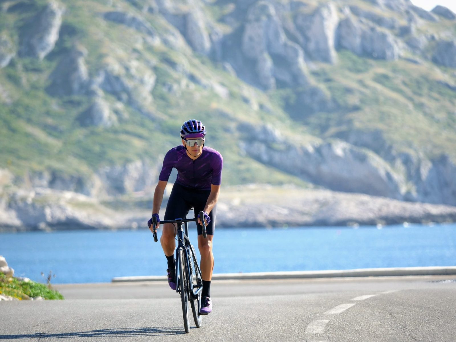 cycliste bord de mer vêtements de cyclistes