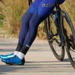 jambières de vélo bleues